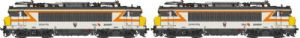LS Models 10052S BB22400+BB22400, TU/TTU, grey/orange, yellow front, DCC SOUND